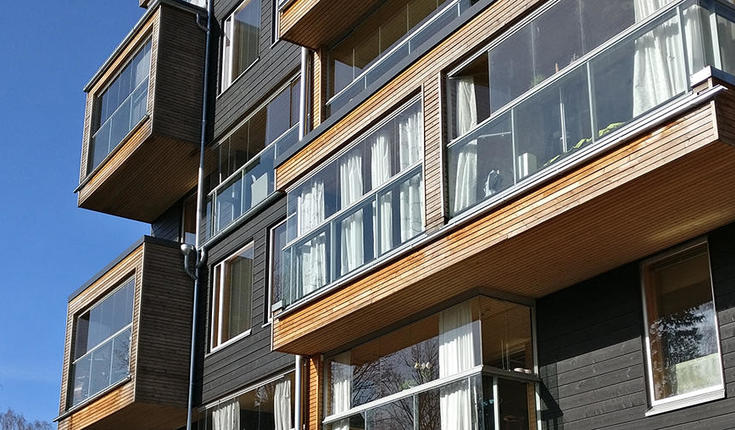 Constructing wooden multi-storey residential buildings