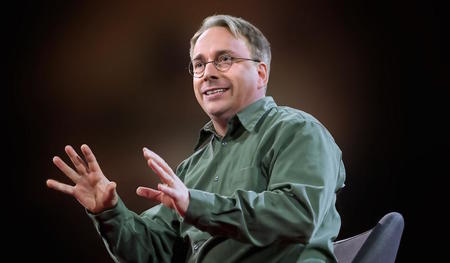 Linus Torvalds, 16 February 2016 Photograph by Bret Hartman / TED – Creative Commons Attribution-NonCommercial License – Edited by Petri Kutvonen