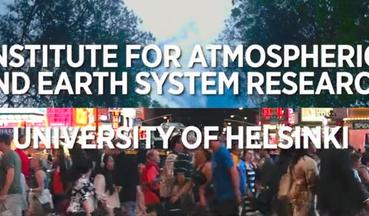 Video for presenting the research made in INAR: institute of atmospheric and earth system research