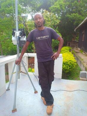 Research assistant Mr. Peter Mwasi