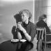 A student in the University Main Building cafeteria in the early 1950s. Photo: Yrjö Lintunen.