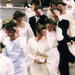 The Conferment Procession of the Faculty of Social Sciences is troubled by the wind. Photo: Veikko Somerpuro, 2000.