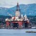Oil rig West Hercules in Bergen. Photo by Ted McGrath, licensed under CC BY-NC-SA 2.0.