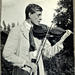 Rolf Nevanlinna playing the violin. Photographer and date unknown.