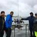 Tom, Eero, and colleagues excited to use the LISST laser-diffraction analyser (Geological Survey Finland) to study suspended particles in estuaries, an important link to nutrient dynamics.© TJ / ABRU