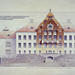 Architectural drawing: Department of Physiology. Designed by Gustaf Nyström 1905.