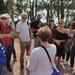 Conference organizer, Sophia Hagolani-Albov introduces the excursion group to Lonna Island where they enjoyed sunshine, sauna, coffee, cake, and conversation.
