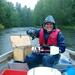 Not even pouring rain can lower JP´s excitement to start sampling the Pojo estuary, southern Finland. © TJ /ABRU