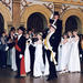 Ball at the Old Student House in connection with the Conferment Ceremony of the Faculty of Philosophy in the year 2000. Professor Matti Klinge is carried aloft in a chair. Photo: Jakke Nikkarinen.
