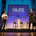 HiLIFE Grand Opening: hosts Anna-Liisa Laine and Vince Cerullo preparing for the big event