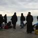 The boat that will pick up the pilgrims on their way to Mount Athos is arriving.
