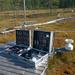 Sampling CH4 from air over a bog for 14C measurements.