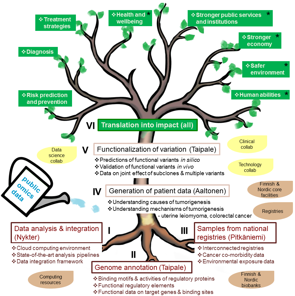 Center of Excellence in Tumor Genetics overview figure