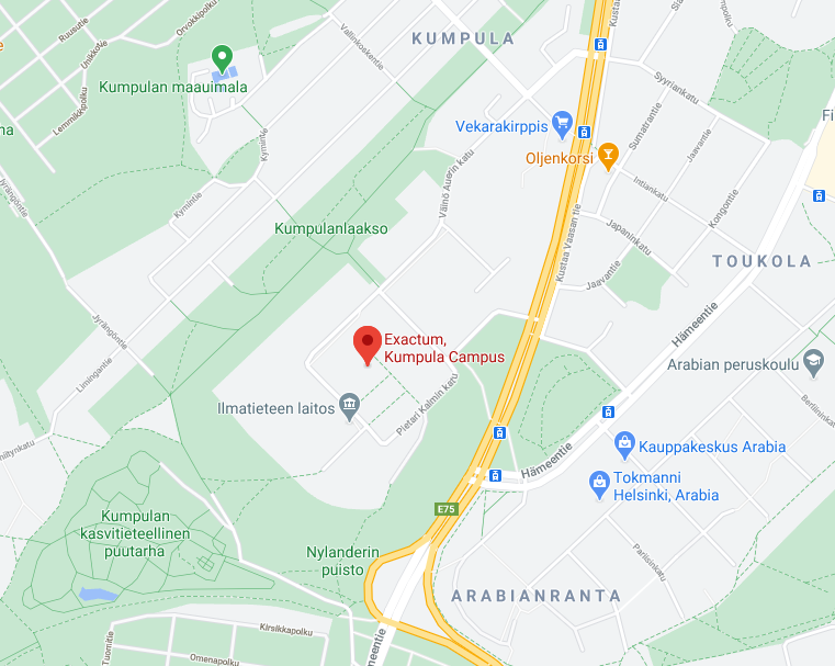 Kumpula campus map
