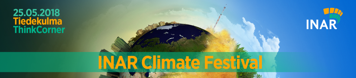 INAR climate festival banner