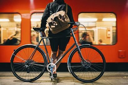 Cropped bike and metro