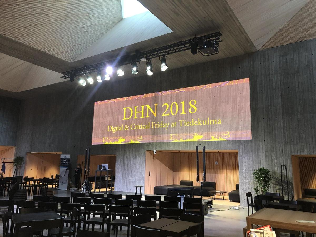 DHN 2018 Digital & Critical Friday at Tiedekulma