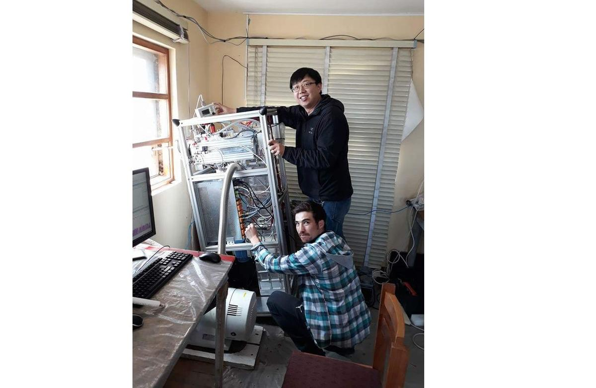 George and Diego are installing CI-APi-TOF