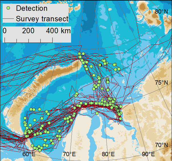 Example of species data used in the Arctic oil spill risk assessment.