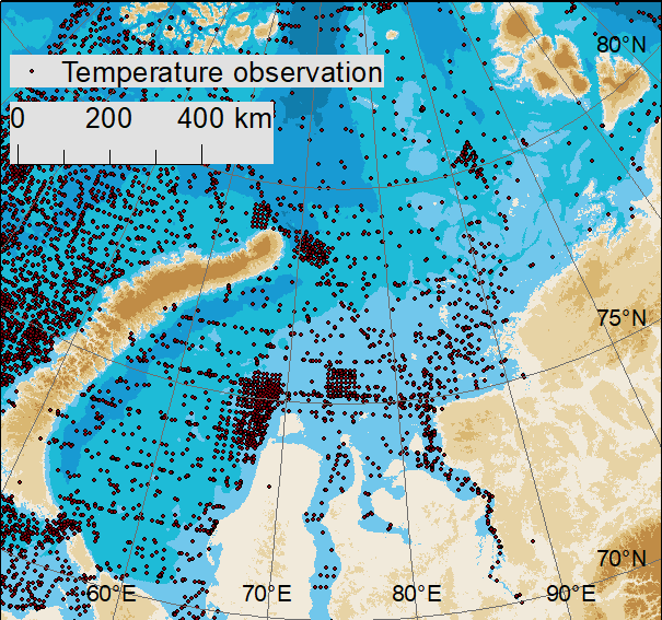 Example of environmental data used in the Arctic oil spill risk assessment.