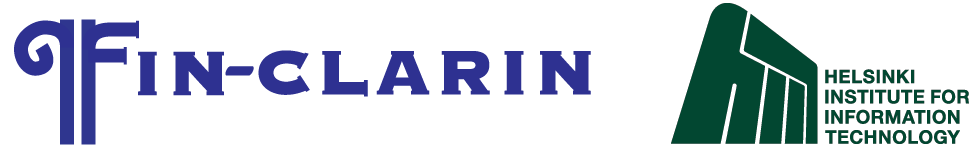 FIN-CLARIN and HIIT logos
