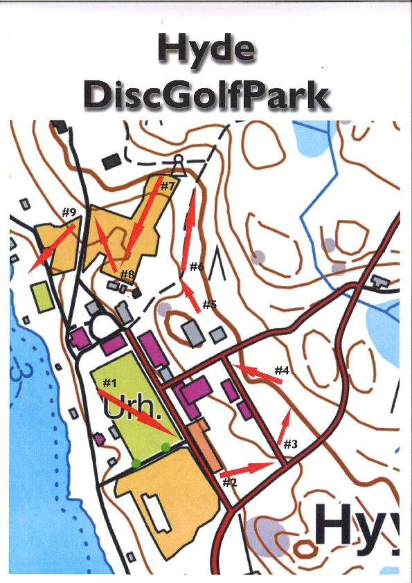 Hyytiälä disc golf map