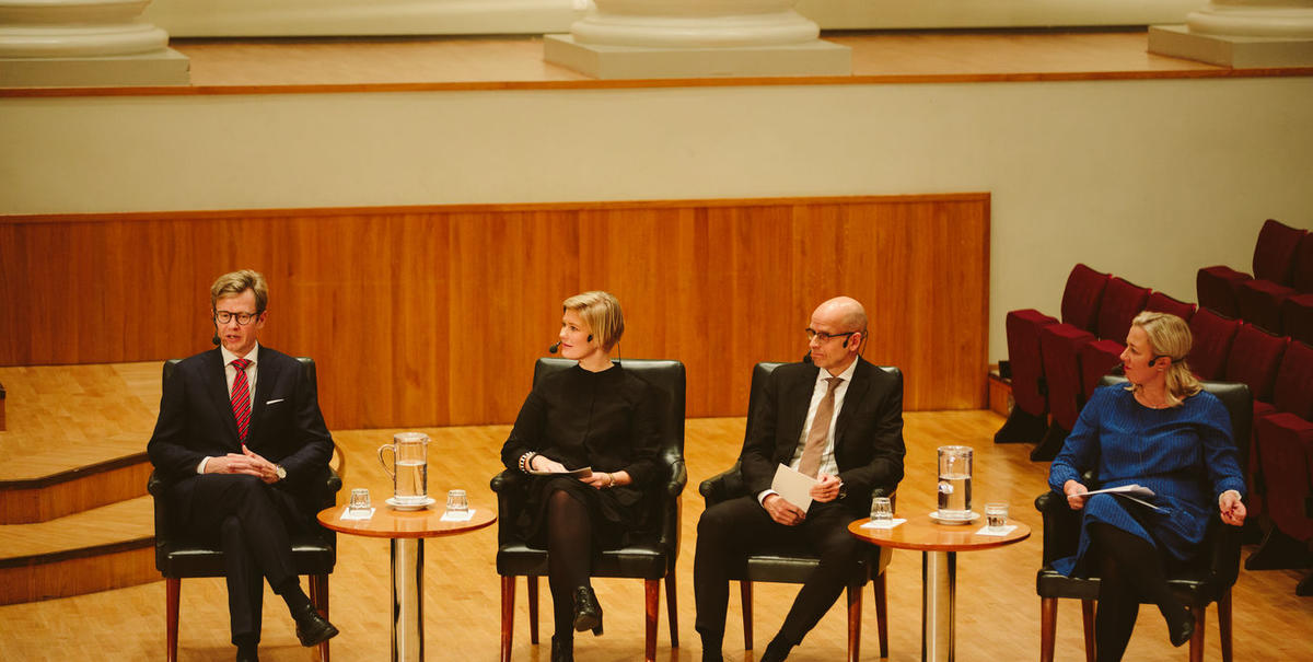 Panelists at the Helsinki GSE opening ceremony