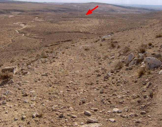 A Roman military camp studied on the ground and a road leading into it and out of the camp on Jebel Bishri, a mountain in Central Syria. Photo: Kenneth Lönnqvist (Silver) 2005, © SYGIS.