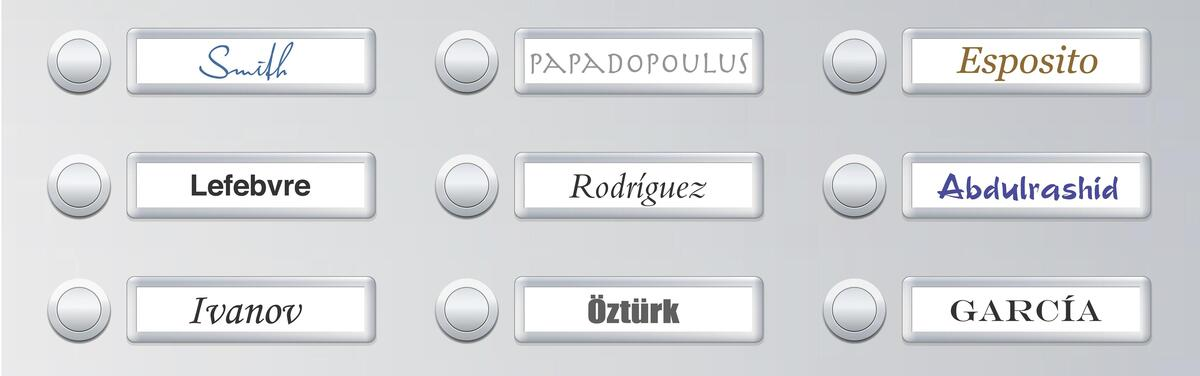 Photo of name signs