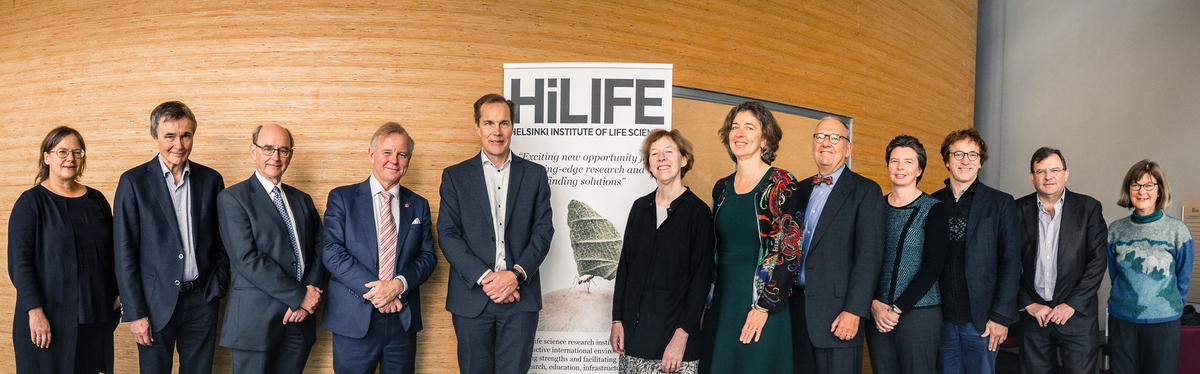 HiLIFE Scientific Council Anne-Claude Gavin, Kai Simons, Anders Björklund, Ole Petter Ottersen, Tomi Mäkelä, Fiona Watt, Marja Jäättelä, Alan L. Schwartz, Kristiina Vuori, Josef Penninger, Duncan Maskell and Mary Power (missing Detlef Weigel)