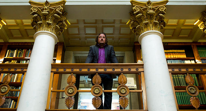 Digital humanist Mikko Tolonen at the National Library of Finland