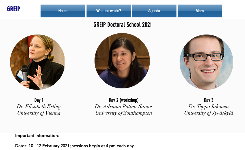 GREIP research centre PhD winter school