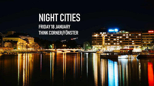 Banner of Night city talks