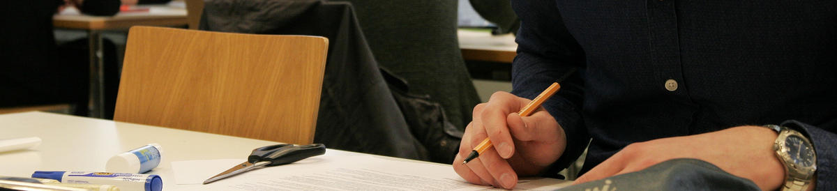 Student working on a text