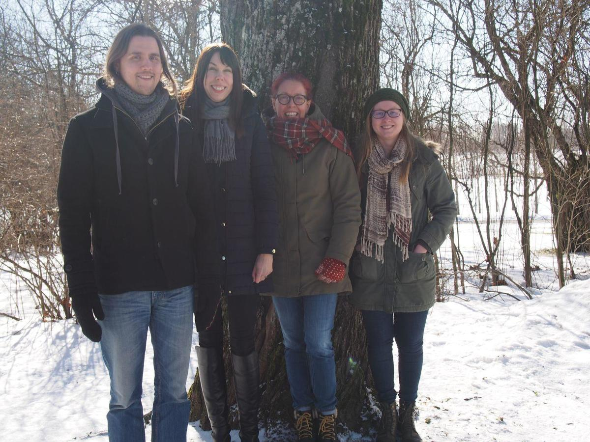 Members of the Fungal Co-life, Omics and Ecophysiology group, photo by Heikki Kihuri