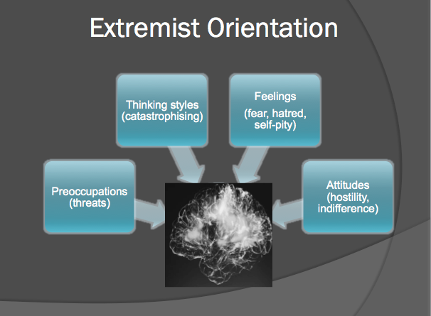 The model of the elements of an extremist orientation