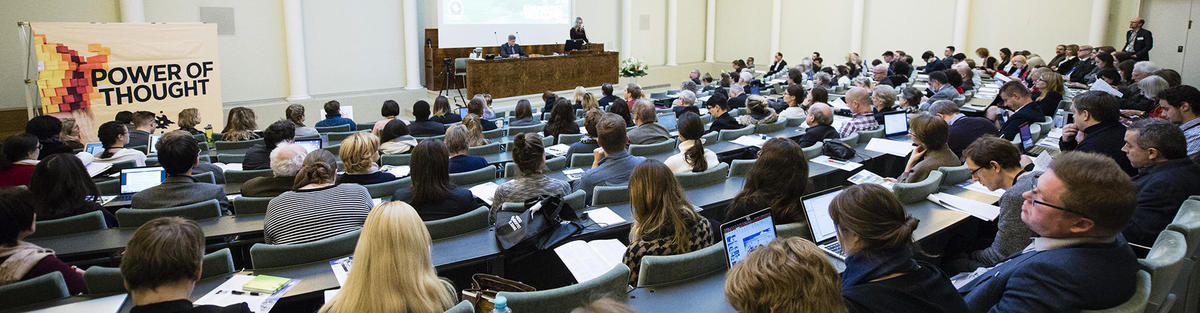 Speaker and audience at the 2017 Aleksanteri Conference
