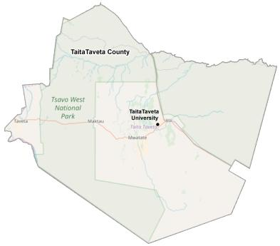 Taita Taveta County map