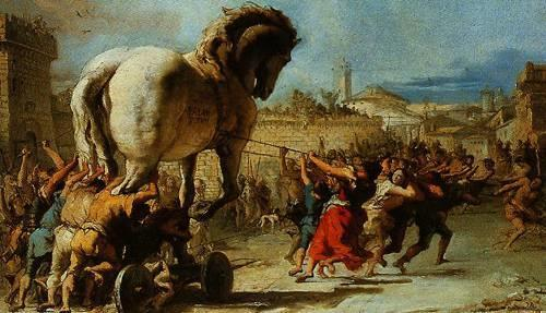 A virus can be considered as a microscopic Trojan horse
