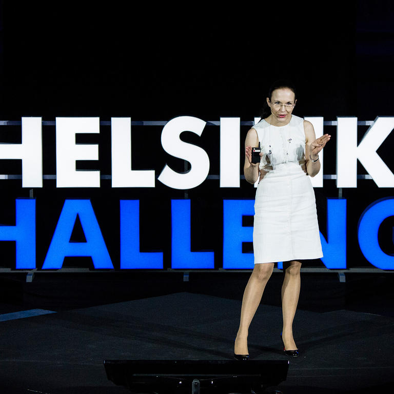 Helsinki Challenge is a science-based idea competition in which teams of scientists work on solutions that help humankind reach the UN Sustainable Development Goals. Photo from Helsinki Challenge Pitch Night.