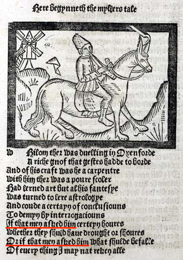History of English adverbial connectives: Chaucer