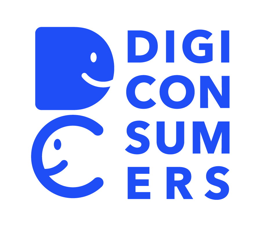 Blue logo of DigiConsumers -project