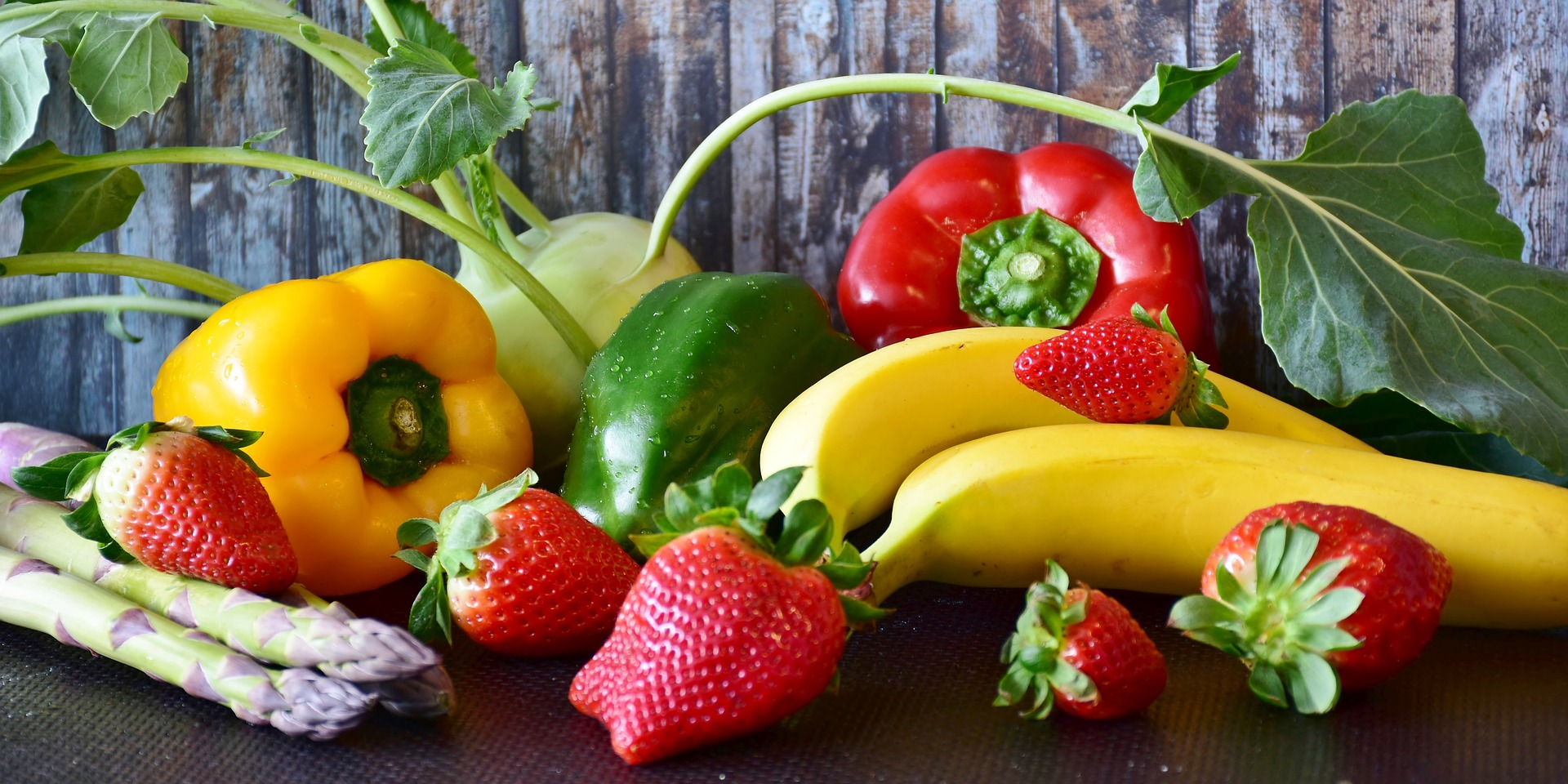 Picture of fruit and vegetables.