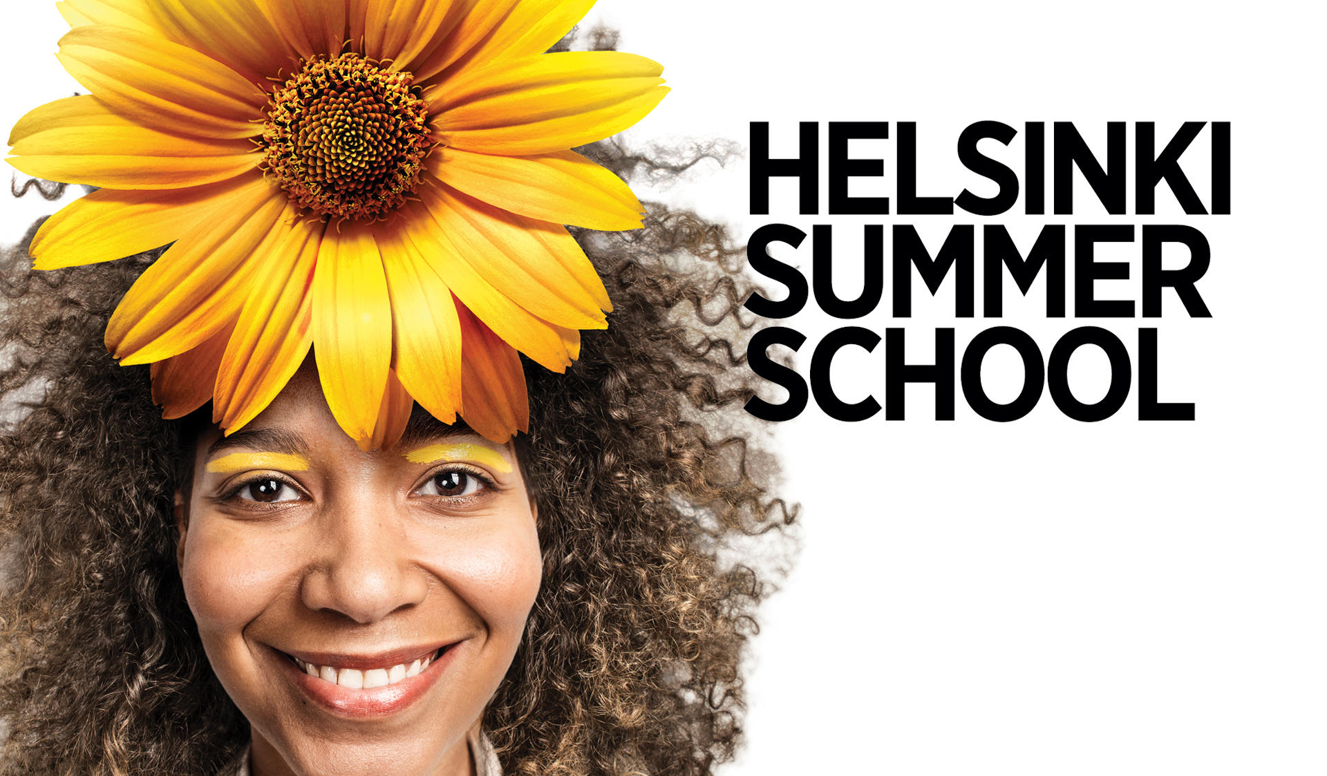 HSS name with a lady having a sun flower on her head
