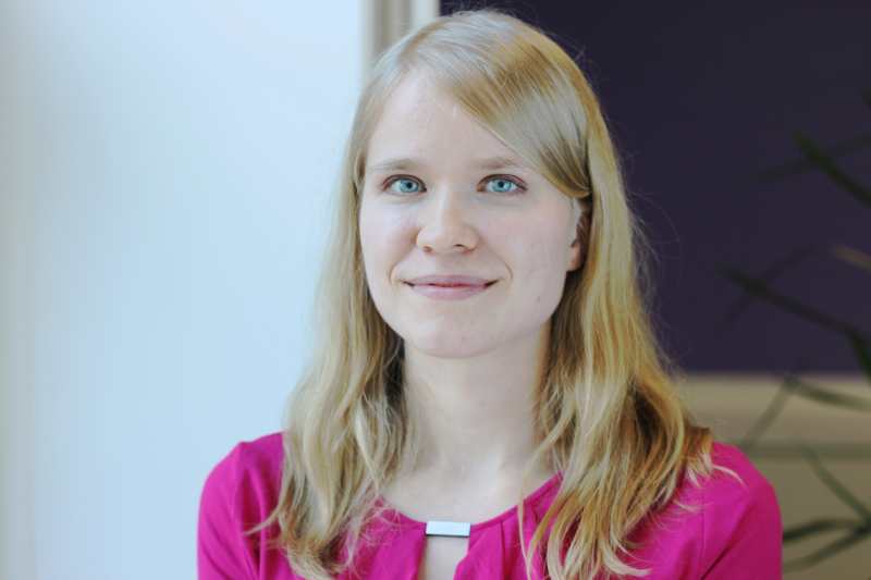 Suvi Pöyhönen from Airavaara lab is interested in ischemic stroke and sudies MANF, astrocytes and stem cells; photo by Suvi Pöyhönen.