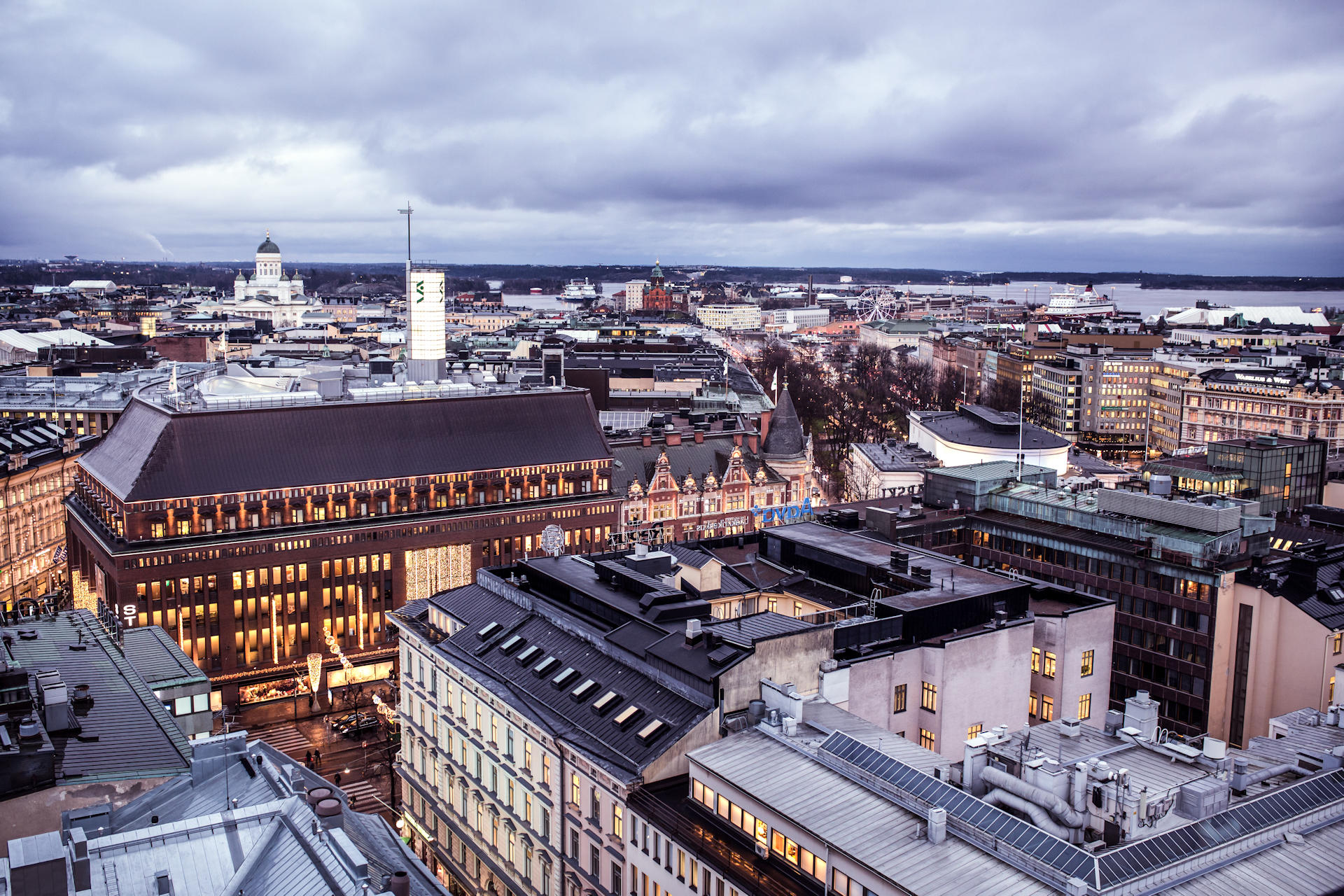 Kamppi rooftops. Photo: Elise Kulmala / Helsinki Marketing