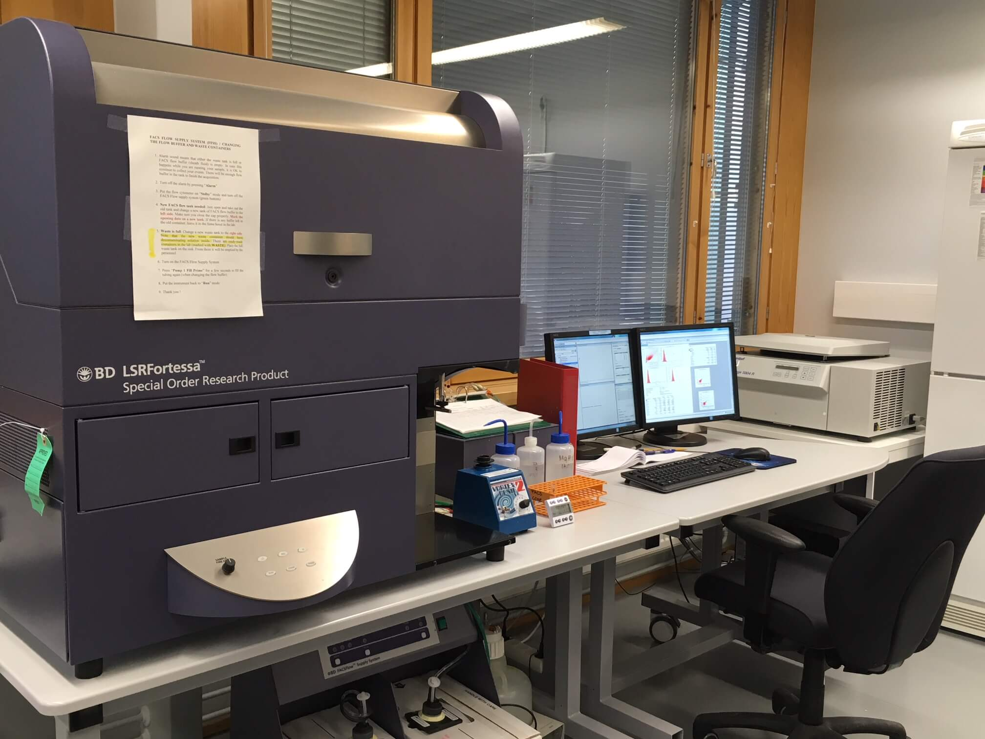 BD LSR Fortessa analyser in Biocenter Flow Cytometry. Photo by Maria Aatonen