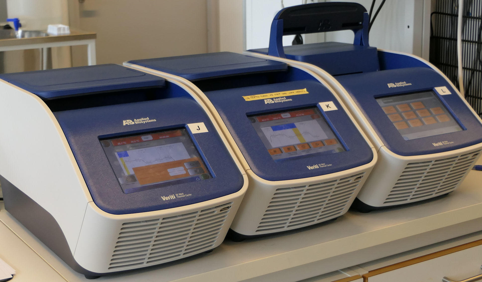 These Verity PCR machines can be foun in Molecular Ecology and Systematics laboratory (MES Lab).