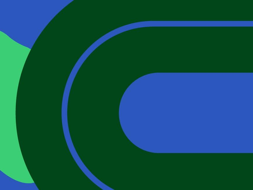 graphic illustration in green and blue