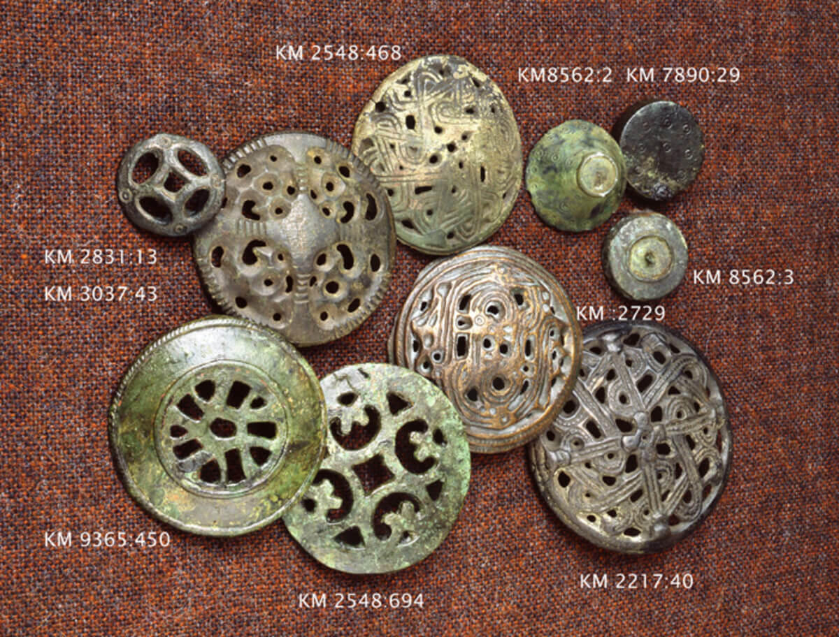 Round brooches (image credit: Finnish Heritage Agency).